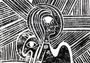 Linocut | Girl On The Hill