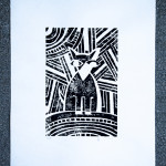 Illustrations | |Linocut | Graphics | Dusia Bach | Series | Midnight